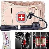 BHHT Rückenstütze, Lendenwirbelstütze Rückengurt Für Den Lendenbereich, Dekompressionsgurt Der Lendenwirbelsäule Unterstützung Für Ischiasentlastung Der Lendenwirbelsäule