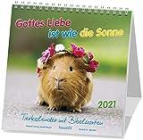 Gottes Liebe ist wie die Sonne 2021: Postkarten-Kalender für Kinder mit Gedichten und Gebeten