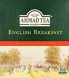 Ahmad Tea - English Breakfast | Schwarzteemischung | 100 Teebeutel á 2 g | Teebeutel mit Band