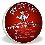 DIY Doctor - Extra starkes Doppelseitiges Klebeband für Teppich - Hinterlässt keine Spuren - Viele Ein-satzmöglichkeiten - 21mm x 20m