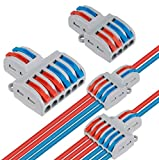 18 Stück Verbindungsklemme Lever Nuts Set, Kompakten Steckklemmen Push Kabelverbinder Sortiment Schnell Klemmenblock Spleißverbinder (SPL-42 12Pcs, SPL-62 6Pcs)