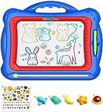 Geekper Magnetische Maltafel Zaubertafeln für Kinder, 41 x 33 cm Magnetische Zeichenbrett, Magnettafel Zaubermaltafel Kreatives Spielzeug für Kinder mit 5 Form Briefmarke
