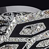 W-LI Led Deckenleuchte Deckenbeleuchtung Deckenleuchte Kristalllampe Schlafgemach Lampenstube Lampe Speisesaal Lampe Deckenbeleuchtung Licht Warmes Licht 48 cm Moderne Kreative Edelstahlleuchte
