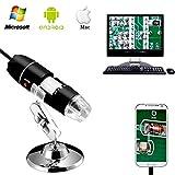 Jiusion 40–1000X vergroting endoskop, 8pcsLED USB 2.0Digitaal MiKrosKop, Mini Kamera met OTG Adapter en Metaal Standfunktion, kompatibel met Mac Windows 7810Android Linux