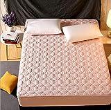 N / A Spannbetttuch Elastan Laken,Einfarbige Tagesdecke aus Baumwolle, Rutschfester Matratzenbezug für dicken Schutz-Jade_1_100 * 200 cm