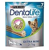 PURINA DENTALIFE Extra Mini Hunde-Zahnpflege-Snacks, reduziert Zahnstein-Bildung und Mundgeruch, sehr kleine Hunde, 6er Pack (6 x 69g)