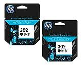 2X Original HP Tintenpatrone F6U66AE HP 302 HP302 für HP Officejet 3830 - Black - Leistung: ca. 190 Seiten/5%