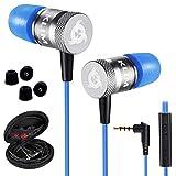 KLIM Fusion Audio Kopfhörer - Langlebig + Innovativ: In-Ear-Kopfhörer mit Memory Foam [ Neue 2020 Version ] Blau