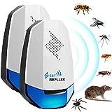 VASIN Ultraschall Schädlingsbekämpfer,Mäuse Vertreiben Pest Repeller, Ultraschall Pest Repeller für vielseitige Anlässe Gegen Ratten,Kakerlaken, Insekten,Ameisen,Flöhe, Fliegen -2 Stück