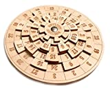 Logica Spiele Art. Euclide - Unglaubliches Mathematisches Denkspiel - Schwierigkeit 4/6 Extrem - Knobelspiel - Geduldspiel aus Holz
