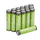 AmazonBasics – AAA-Batterien mit hoher Kapazität, wiederaufladbar, 850 mAh (16er-Pack), vorgeladen
