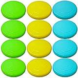 12 Frisbee Scheiben Wurfscheiben Flying Disc, 23cm - Helle Farben, Robust & Stabil - Spielzeug für Erwachsene, Kinder, Hunde, Sport, Spiele & Outdoor  Sommer Strand Garten Park.