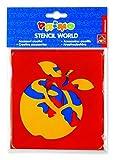 PRIMO Abwaschbare Mal-Schablonen (15x14cm) Zeichenschablonen mit verschiedenen Motiven, Set zum Malen & Zeichnen (Obst) [Unknown Binding]