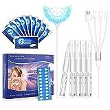 Bleaching Zähne, WELTEAYO Hause Zahnaufhellung Set Mit 5 Zahnbleaching Gel und 10 White Stripes (A)