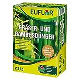 Euflor Gräser- und Bambusdünger 2,5 kg•Organisch-mineralischer NPK-Dünger 10+4+5 mit 2% MgO und 1% wasserlöslichem Eisen•Speziell für Gräser und Bambus•Mit Eisen und Magnesium für saftiges Grün