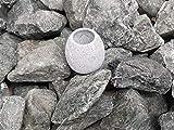 (5 kg) Saunasteine Diabas (vorgewaschen) 50-80 mm + Saunakko Saunatasse als SET