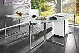 Invicta Interior Eck-Schreibtisch Big Deal Glas weiß Bürotisch Schreibtisch Tisch Glastisch