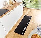 Zala Living Kitchen Waschbarer Küchenläufer, Polyamid, Schwarz/weiß, 150 x 50 x 0.5 cm