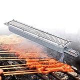 DIFU Grillplatte Gasgrill Infrarot Keramikbrenner Gasbrenner Seitenbrenner Keramikheizung Kochen Barbecue 41 x 80 x 5,8 cm
