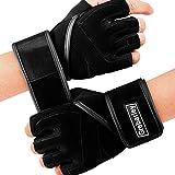 Grebarley Fitness Handschuhe Trainingshandschuhe,Leicht Gewichtheben Ideal zum Gewichtheben,Crossfit Training und Radsportanzug für Damen und Herren (Black, L)