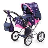 Bayer Design 13654AA City Star in modernen Einhorn Design, Kombi Puppenwagen, mit herausnehmbarer Tragetasche und Umhängetasche, höhenverstellbar, für Puppen bis 46cm, blau rosa