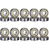 CESHMD 20 Pack 608 ZZ Kugellager, 608zz Metall Double Shielded Miniatur Rillenkugellager (8mm x 22mm x 7mm) (20 Pack 608 ZZ)