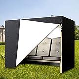 everso Schutzhülle Hollywoodschaukel für den Garten,3 Sitzer, Wasserdicht Abdeckplane aus 210D Oxford, 223.5 * 152 * 183cm (223.5 * 152 * 183, Schwarz)