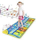 RenFox Klaviermatte Musikmatte Tanzmatte Kindertanzmatte Kinder Klaviertastatur Matte, Piano Mat Keyboard Musik Matte Spielzeug Geschenke für Baby Jungen Mädchen (Großes 130*48 cm)