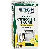 HEITMANN pure Reine Citronensäure: Ökologischer Bio-Entkalker - Pulver, 1x 350 g