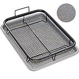 Home Icon Kupfer Granit Crisper Grillkorb Antihaftungs Backtablett mit Crisping Basket Zweiteiliges Set für fettarmes Heißluft-Garen im Ofen