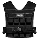 Gravity Fitness Weighted Vest - 15kg - 20kg - Fully Adjustable. Calisthenics, Crossfit, Strength Training, Home and Commercial use. (20, 20)