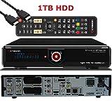 OCTAGON SF2028 Twin HD 3D Optima - H.264 Twin Tuner, PVR SAT Festplattenreceiver, BlindScan, Timeshift, Media-Server, USB, 1x CI + 1x Kartenleser, HDMI-Kabel (2X DVB-S2 Tuner, schwarz - 1TB HDD)