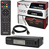 Kabel Receiver Kabelreceiver - DVB-C HB-DIGITAL Set: Opticum HD C200 Receiver für digitales Kabelfernsehen (HDMI, SCART, USB 2.0, Mediaplayer) + HDMI Kabel