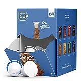 My-CoffeeCup – MEGA-BOX LUNGO CAFFÈ CREMA – BIO-KAFFEE I 100 Kaffeekapseln für Nespresso®*-Kapselmaschinen I 100% industriell kompostierbare Kaffeekapseln – 0% Alu I Nachhaltige Kaffeekapseln