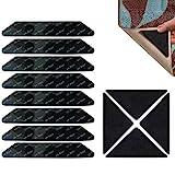 Antirutschmatte für Teppich, Teppichgreifer Antirutschmatte für Holzböden, Rutschfester Teppichgreifer, waschbare Teppichpolster, Wiederverwendbare Teppichgreifer für Fliesenböden Teppiche,12 Stück