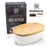 DOLCE MARE Bambus Brotbox - Hübscher Brotkasten - extrem praktischer Brottopf - Ausgefallener Brotkorb aus Holz - Brotbehälter - Bread Bin - tolle Geschenkidee