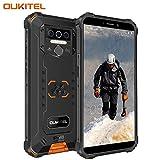 OUKITEL WP5 Pro (2020) Outdoor Smartphone Ohne Vertrag, 4G Dual SIM IP68 Outdoor Handy,8000mAh Akku 4GB 64GB Outdoor Handy,Android 10 Global Version 5,5 Zoll Triple Kamera Face/Fingerprint ID (Orange)