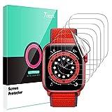 TOCOL 6 Stück Schutzfolie kompatibel mit Apple Watch Series 6 SE 5 4 40mm Klar HD Weich TPU Folie Nicht Glas Blasenfreie Kompatibel mit Hülle Displayschutz
