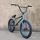 SWORDlimit 20-Zoll-BMX-Freestyle für Anfänger bis Fortgeschrittene, hochfester, stoßdämpfender 4130-Rahmen, 25x9T-BMX-Getriebe, leuchtende Farbe
