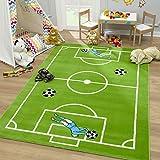 SANAT Teppich Kinderzimmer - Fußball Spielteppich Kinderteppich für Mädchen und Jungen Öko-Tex 100 Zertifiziert, Größe: 120x170cm