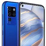 OUKITEL Dual-SIM-Telefon entsperrt 6,4 Zoll 1080 * 2310 FHD + 4G 20MP AI Frontkamera Rückseite Quad-Kamera Helio P60 Android 10 Handy Günstiges Smartphone C21 Blau