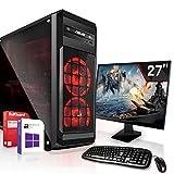 Gaming PC Komplett Set/Multimedia Computer inkl. Windows 10 Pro 64-Bit! - AMD Octa-Core FX-8300 8 x 3.3 GHz - Nvidia Geforce GTX 1650 4GB GDDR5-27 Zoll TFT - 16GB DDR3 RAM - 120GB SSD + 1000G