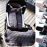 2pcs / lot Kinderwagen-Schlafsack-Schlafsack wickeln Anti-Tritt-Steppdecken-Fotografie-Decke mit Handwärmer-Handschuh-Abdeckungs-Hülsen-Handverpackung für Baby u. Mama (Color : Grey)
