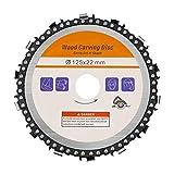 Kreissägeblätter für 125mm, Flex Trennscheibe Ideal für Holz, Metall & Alu, Holz Kreissägeblatt für Winkelschleifer, Wood Carving Disc zum Schnitzen, Schneiden, Formen
