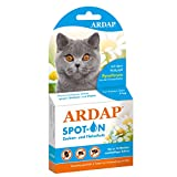 ARDAP Spot On - Zecken & Flohschutz für Katzen über 4kg - Natürlicher Wirkstoff - Bis zu 12 Wochen nachhaltiger Langzeitschutz