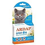 ARDAP Spot On für Katzen über 4kg - Bis zu 12 Wochen nachhaltiger Langzeitschutz - Natürlicher Wirkstoff gegen Zecken & Flöhe