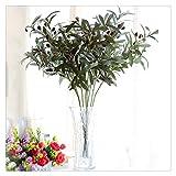 KAERMA 72cm Künstliche Europäischer Olivenbaum Zweige Blatt mit Oliven-Blättern for zu Hause Hochzeit Dekor grüne künstlichen Blumen Indoor-Grün (Color : 1pc 72cm)