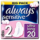 Always Sensitive Long Always Ultra Damenbinden mit Flügeln, 20 Stück