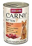 animonda Carny Kitten Katzenfutter, Nassfutter Katzen bis 1 Jahr, Rind, Kalb + Huhn, 6 x 400 g