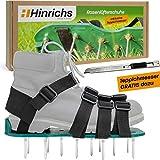 Hinrichs Rasenlüfterschuhe Nagelschuhe Vertikutierer Rasenbelüfter Schuhe - Zum einfachen Belüften von Rasenflächen - Cutter gratis